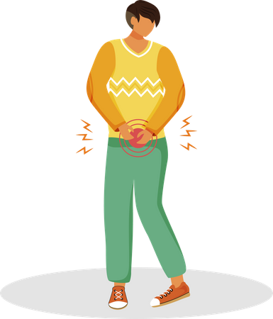 Urgent urination Illustration