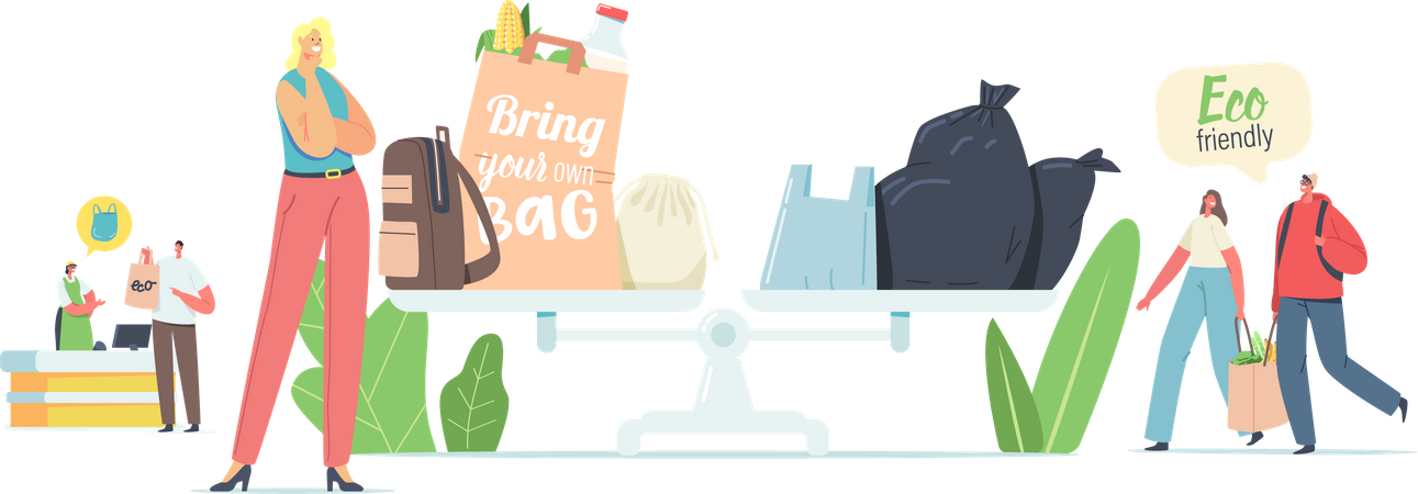 Use eco-friendly products Illustration