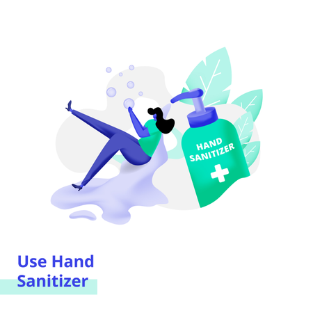Use Hand Sanitizer Illustration