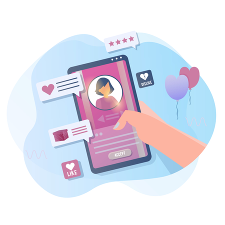 Use the dating application Illustration
