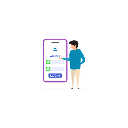 User Account Login Illustration