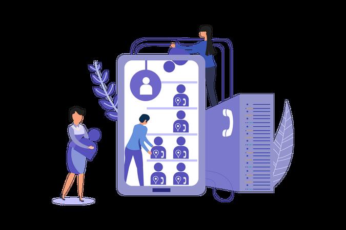 User Data Collection Illustration