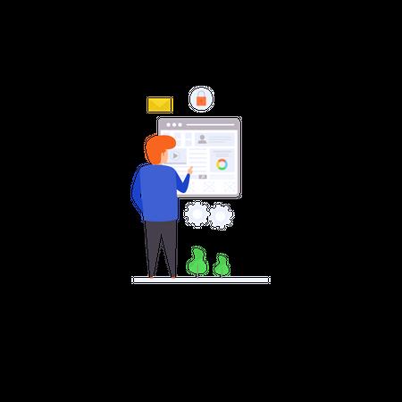 User Experience Illustration