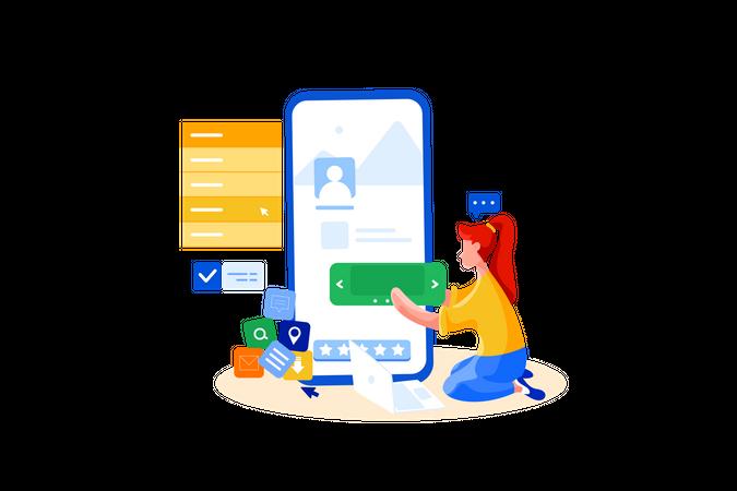 User interface designer Illustration