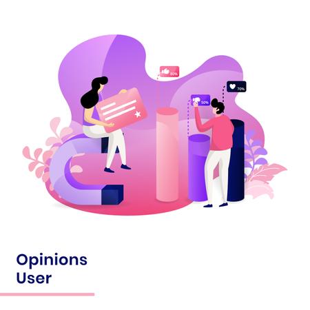 User opinions Illustration