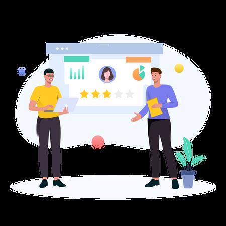 User Rating Analysis Illustration