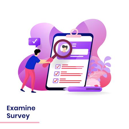 User researching on Survey Illustration