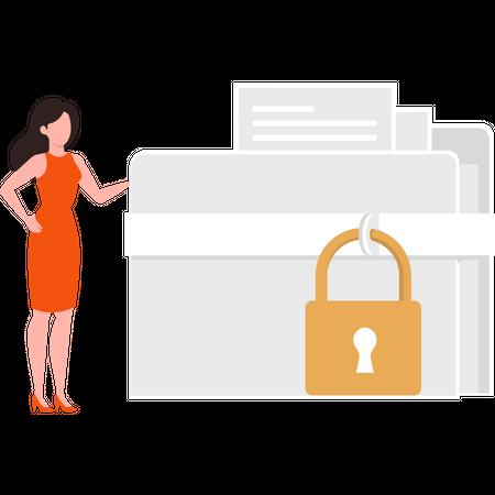 User secure data Illustration