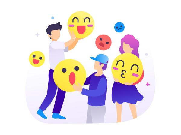 Using Emoticons Illustration