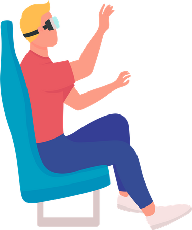 Using virtual reality devices Illustration