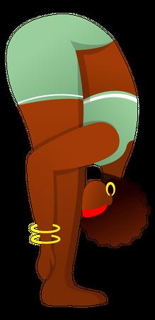 Uttanasana Illustration