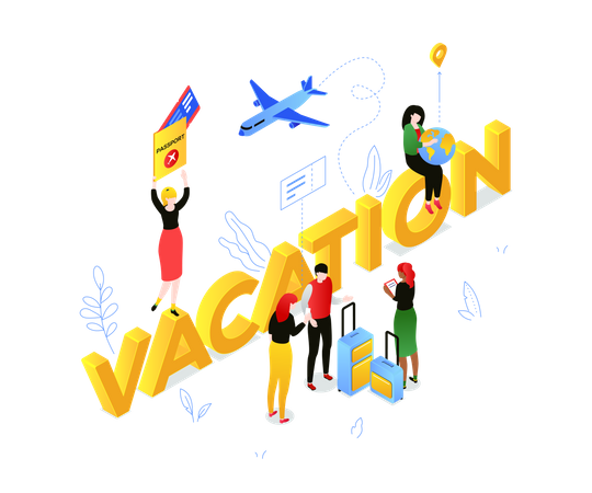 Vacation and travel Illustration