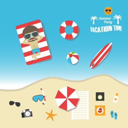 Vacation Time Illustration