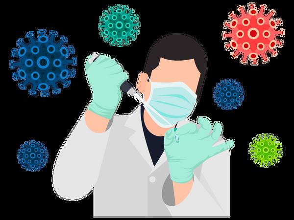 Vaccine Research Illustration