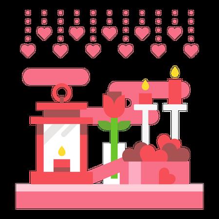 Valentine decoration Illustration