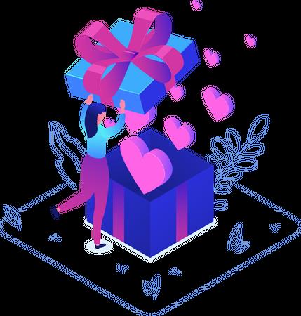 Valentine Gift Illustration