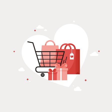 Valentine shopping Illustration