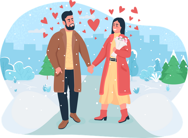 Valentine's day celebration Illustration