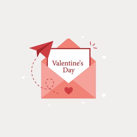 Valentines day letter Illustration