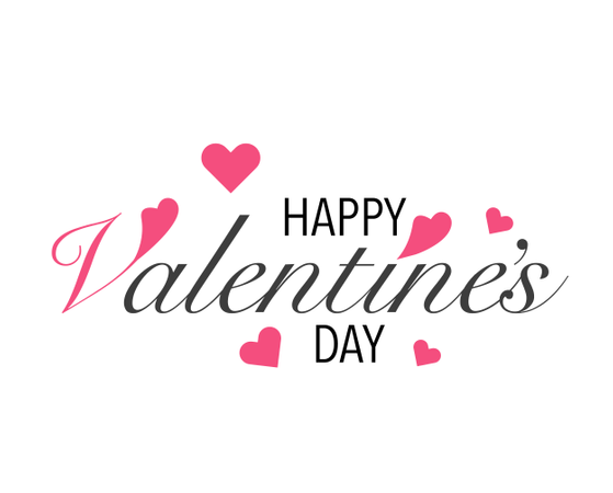 Valentines Day Lettering Background Illustration