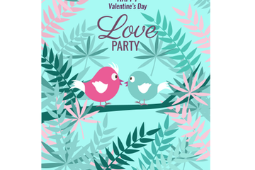 Valentine Poster Template Stock Images