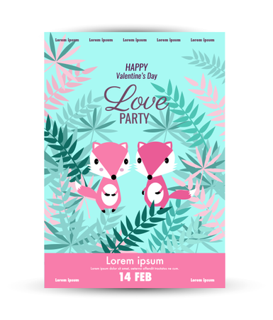 Valentine's Day  poster template Illustration