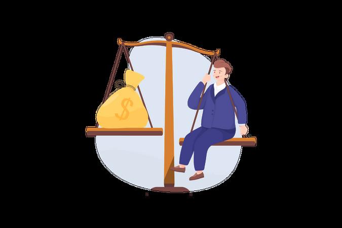 Value of business leader Illustration