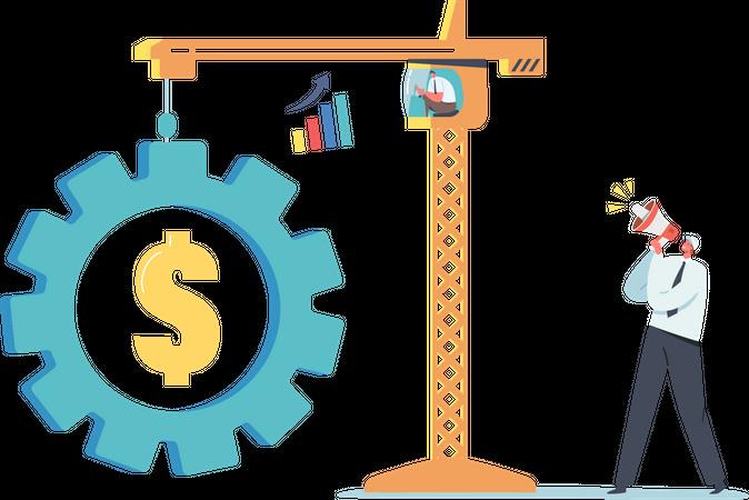 Value of money Engineering Illustration