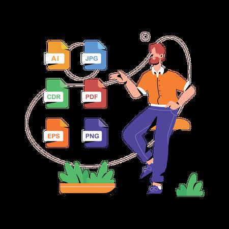 Various File Formats Illustration