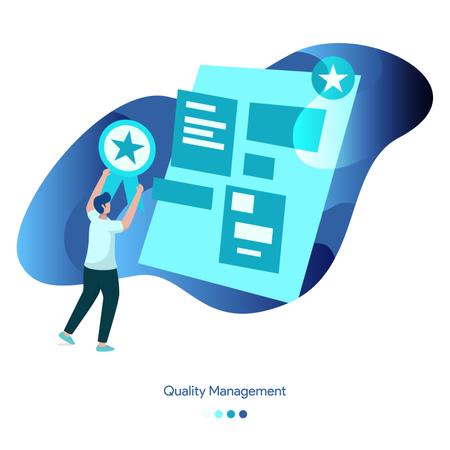 Vector Illustrations of Quality Management Illustration