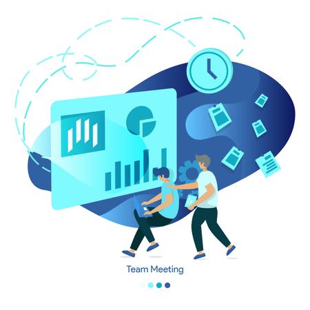 Vector Illustrations of Team Meeting Illustration