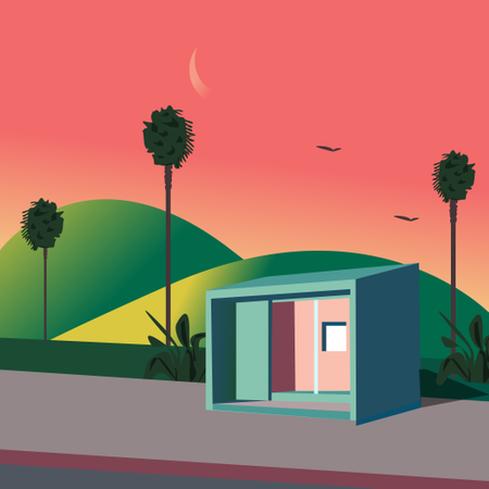 Vector of container house Illustration