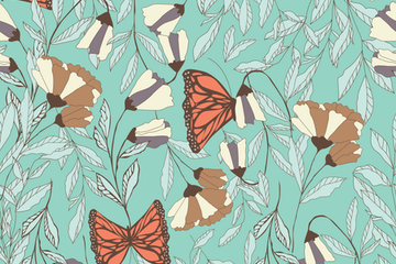 Flowers And Butterflies Illustration Pack
