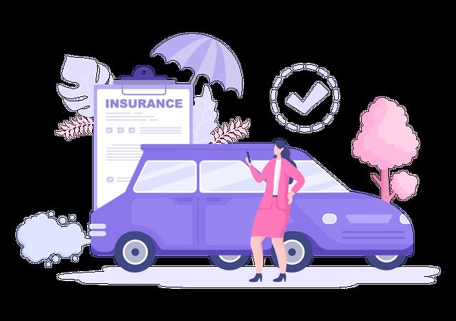 Vehicle insurance Illustration