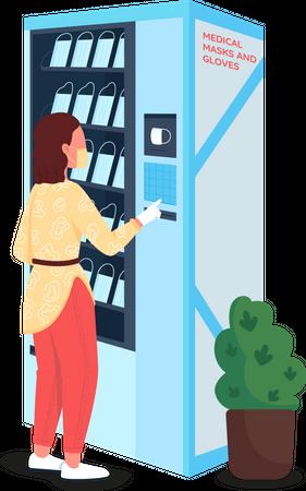 Vending machine for medical equipment Illustration