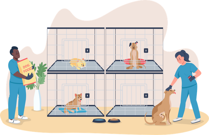 Veterinary care for dogs Illustration