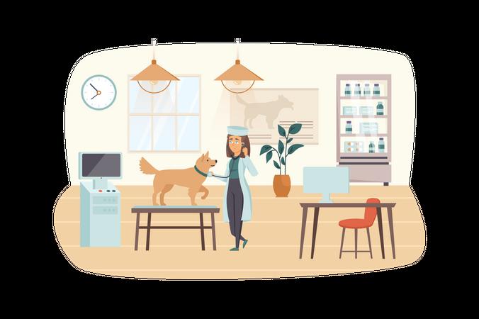 Veterinary clinic Illustration