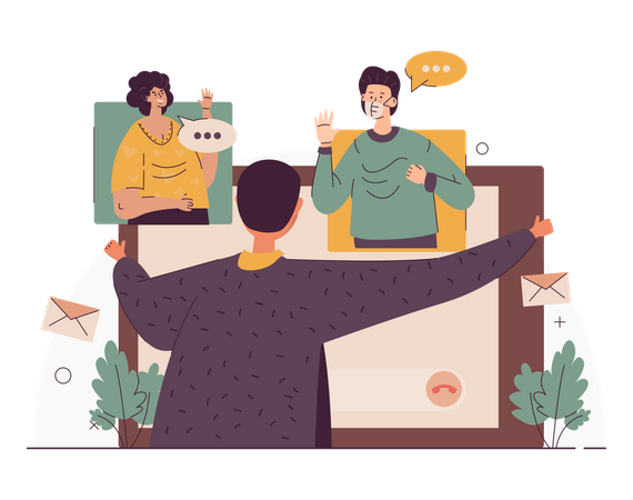 Video call conference Illustration