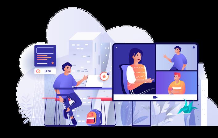 Video conference Illustration