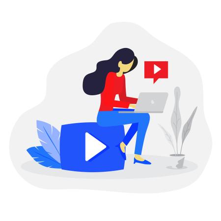 Video content creator concept Illustration