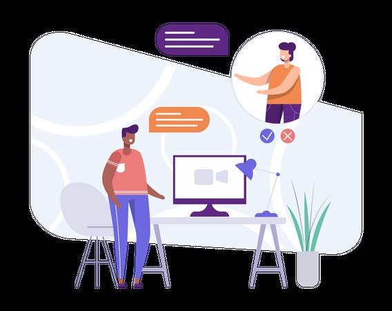 Video Conversation Illustration