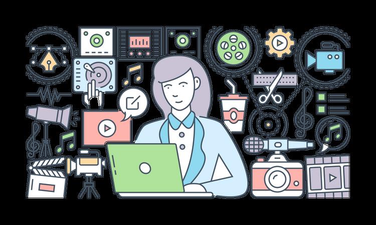 Video Editor Illustration