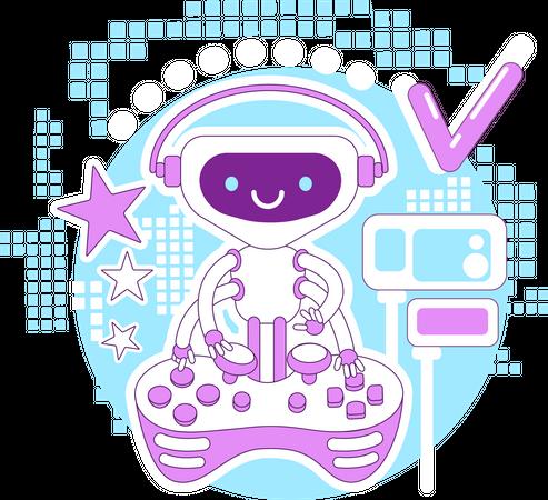 Video game bot Illustration