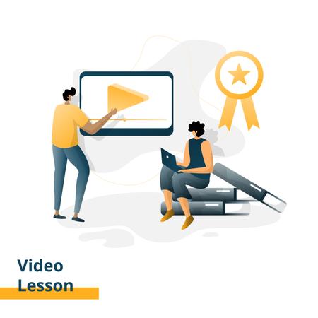Video Lesson Illustration