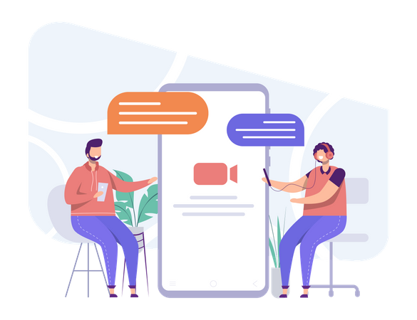 Video Meeting Illustration