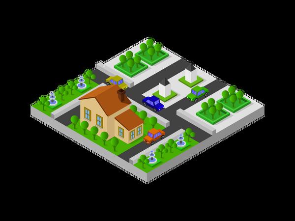 Village House Illustration