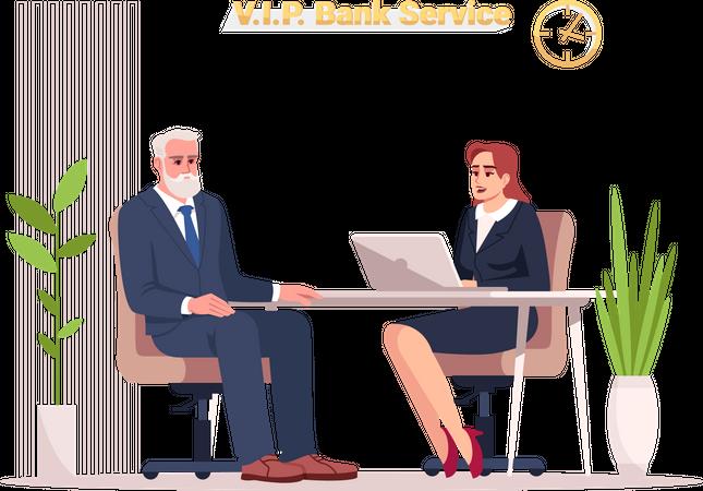 VIP bank service Illustration