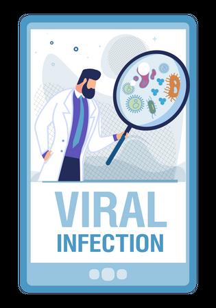 Viral infection Illustration