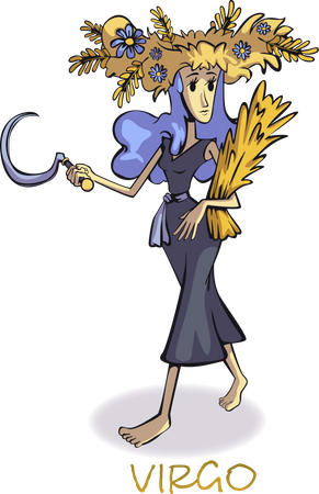 Virgo zodiac sign Illustration