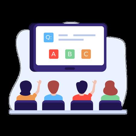 Virtual classroom Illustration
